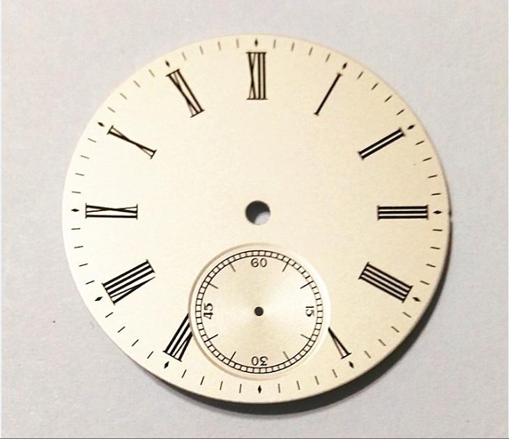 Mostrador do Relógio dos Homens do Movimento Milímetros Número Geervo Moda Estéril Mostrador Branco Fit Coma 6498 17-8 38.9