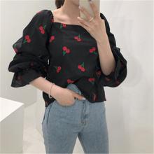 2020 Новое прибытие шикарная мода сладкий цветочный принт вишня