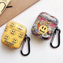 Luxury Earphone Case For Airpods Pro 3 Case Drew House Bluetooth Headphone Headset Protective Cover With Hook for Airpods 1/2/3