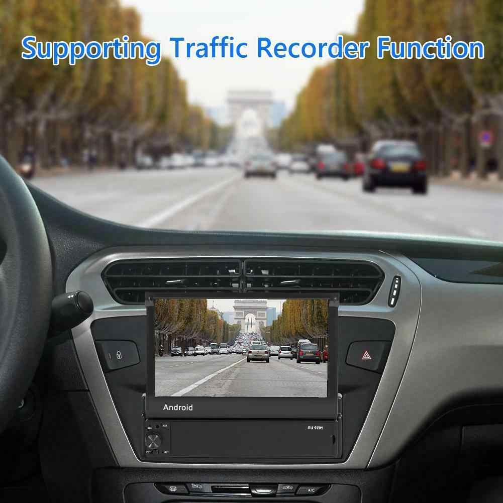 格納式アンドロイド 8.1 カーラジオの Gps Wifi Autoradio 1 Din MP5 7 ''タッチスクリーンマルチメディアプレーヤーサポートカメラ
