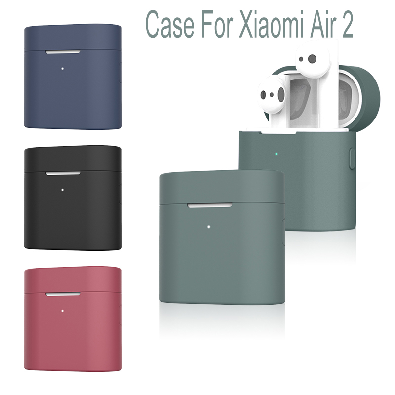 Silicone Case For Xiaomi Mi Air 2 Wireless Bluetooth Headset Protective Full Cover Case For Xiaomi Mi Air 2 Headset Cover 2019