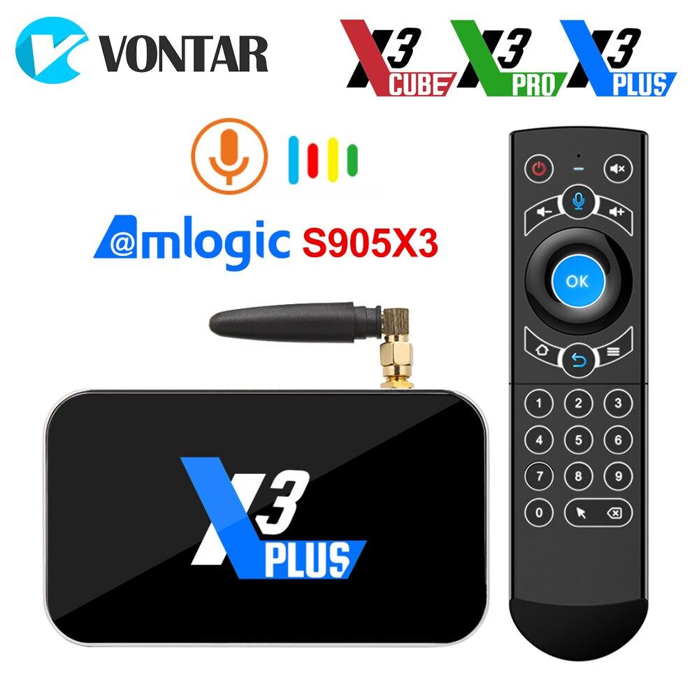 X3 Plus TV BOX Android 9 0 Smart TV Box S905X3 DDR4 RAM 4GB 64GB 2 4G 5G Wifi 1000M Bluetooth 4 2 Set top box 4K HD