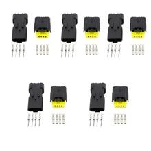 5PCS 4 Pin DJ7047Y-2.5-21 Female Male FO Turn Light Plug Lamp Socket FCI Car Sensor Connector For Auto Truck