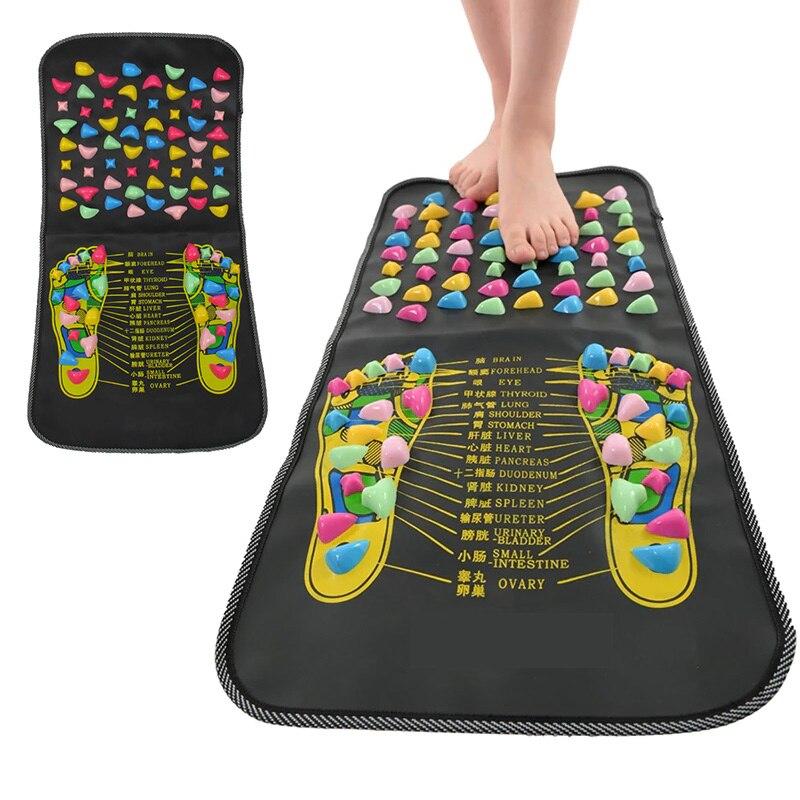 Chinese Reflexology Walk Stone Pain Relieve Foot Leg Spa Massage Mat Health Care SEC88