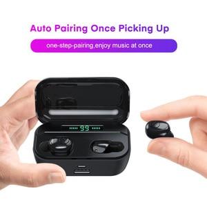 Image 2 - Topk Tws Draadloze Hoofdtelefoon Bluetooth 5.0 Oortelefoon Hd Stereo Noise Cancelling Gaming Headset Handsfree Oordopjes In Ear