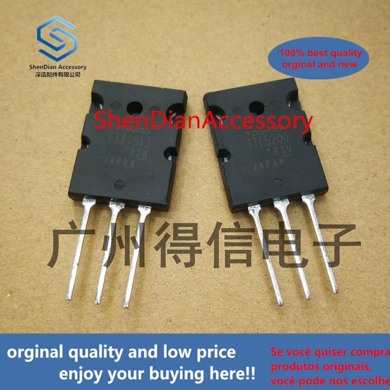 2pairs 100% Orginal New TTA1943 TTC5200 A1943 C5200 Audio Amplifier Tube Real Photo