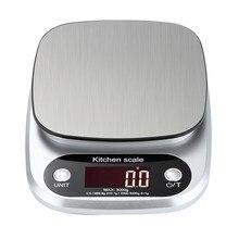 Balance de Cuisine électronique numérique, outil de pesage en acier inoxydable 10kg/1g