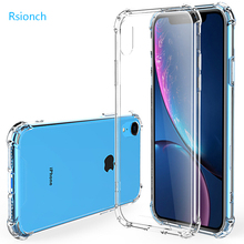 Rsionch 2019 Nieuwe Shockproof Soft Silicone Case voor iPhone 11 Pro Max 11 Pro 11 Xr X XS XS Max clear Soft TPU Bescherming Back cover voor Nieuwe iPhone 11 Pro Max 11 Pro 11 7 8 6 6s plus 5 5s