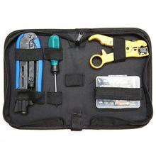 купить Coax Cable Crimper Kit, Compression Tool Coax Cable Crimper Kit, Adjustable Rg6 Rg59 Rg11 75-5 75-7 Coaxial Cable Stripper With дешево