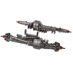 Image 1 - Литая ЧПУ Передняя Задняя ось для 1/10 RC Crawler Axial Wraith 90018 90020 90045 RR10 90048 90053