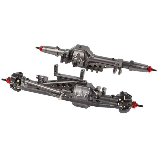 Eje trasero delantero CNC de aleación para 1/10 RC Crawler Axial Wraith 90018 90020 90045 RR10 90048 90053
