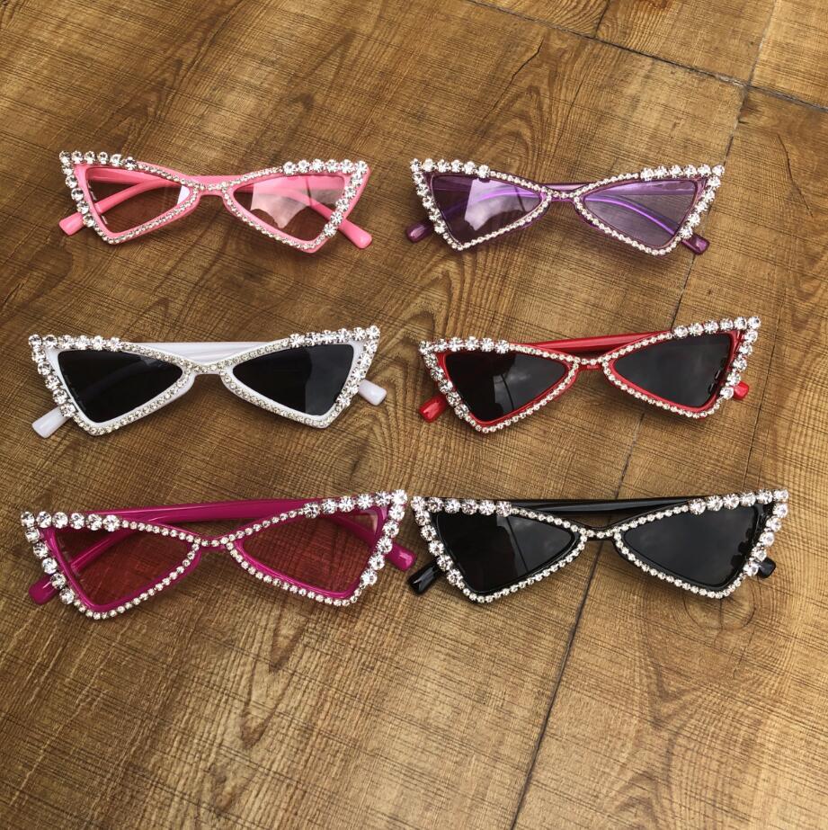 ZAOLIHU Baby Cat Eye Sunglasses Kids  Diamond Crystal Sun Glasses UV400 Summer Shades Black Red Small Eyewear Luxury Gafas de