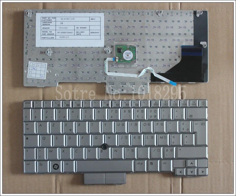 Новая Французская клавиатура для ноутбука HP Compaq 2710 2710P EliteBook 2730 2730P FR Серебряная версия клавиатуры