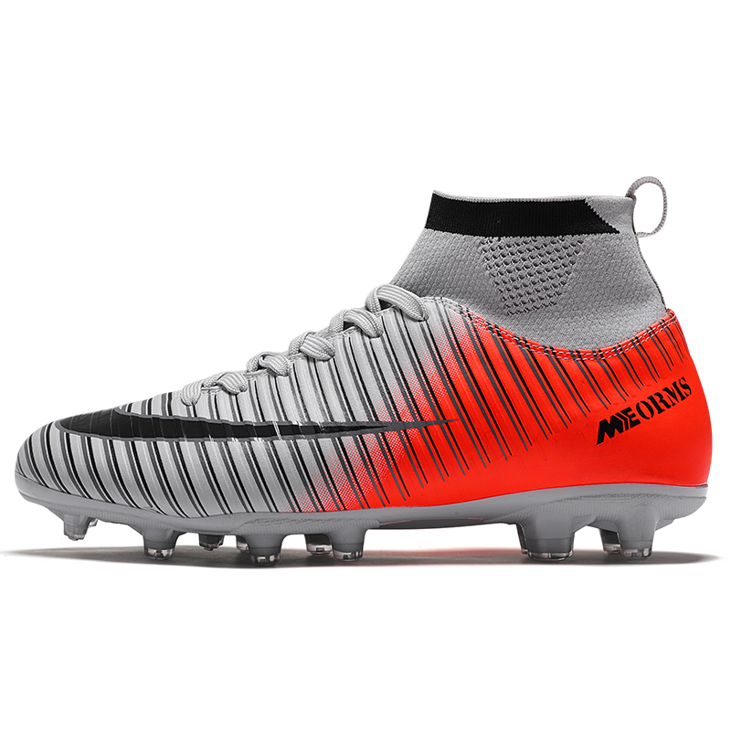 Sneakers Men Soccer-Shoes Football-Boots Turf Training Outdoor High-Ankle Kids Ag-Sole