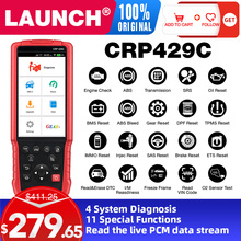 LAUNCH X431 CRP429C OBD OBD2 Code Reader Scanner for 4 system diagnostic 11 reset function CRP429 Scan tool PK CRP129