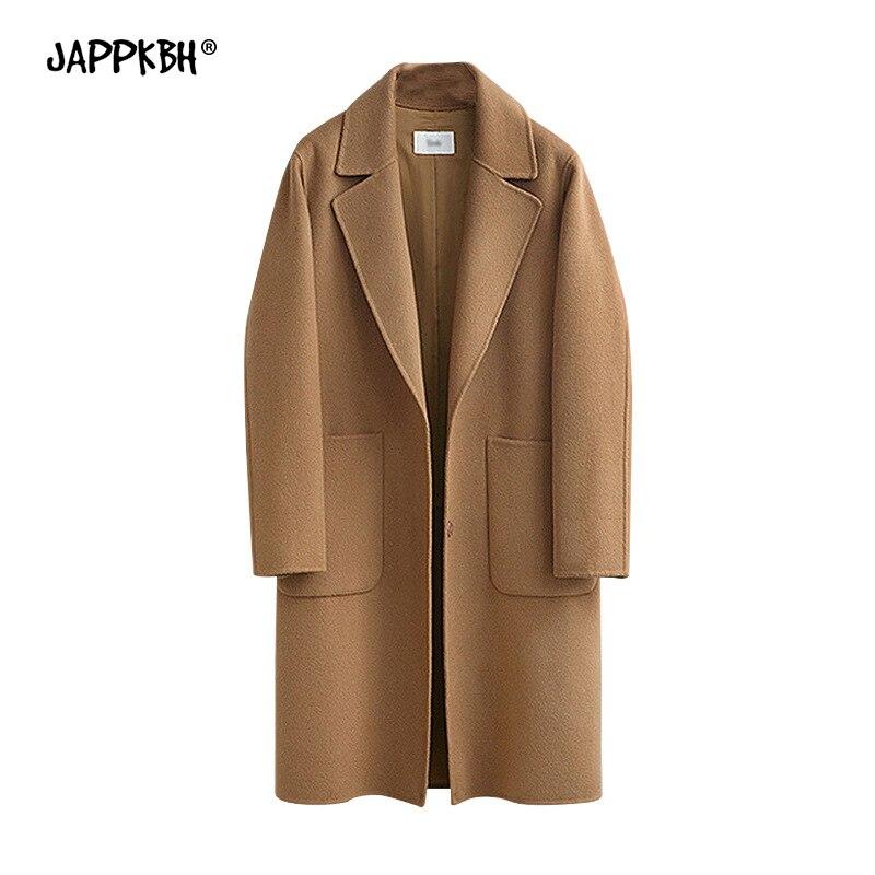 Autumn Winter Coat Women 2019 Casual Plus Size Long Sleeve Thick Jackets Female Vintage Loose Warm Wool Coat Casaco Feminino 5XL