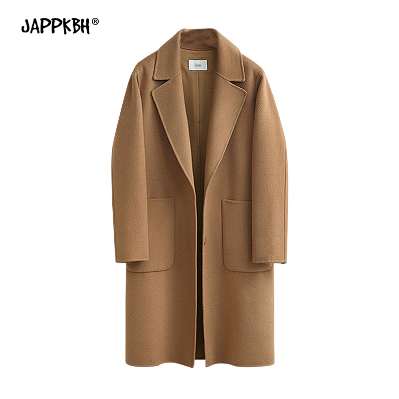Autumn Winter Coat Women 2020 Casual Plus Size Long Sleeve Thick Jackets Female Vintage Loose Warm Wool Coat Casaco Feminino 5XL