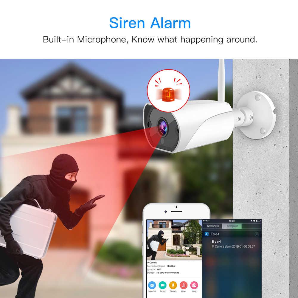 Vstarcam câmera de vigilância residencial, c13s 1080p wi-fi ip sirene alarme ip66 2mp ao ar livre visão noturna infravermelho