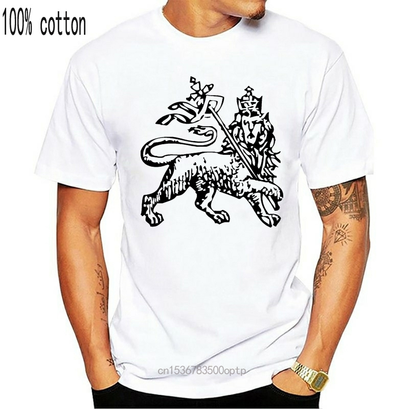 Branded Design Ethiopian Lion of Judah Tees Shirts Homme Best Fitted Short Sleeve Summer Tshirt Couple Plus Size Merch Clothing