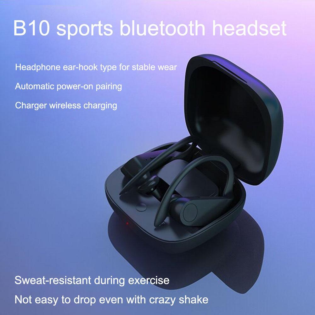 Bluetooth Sports Earphone B10 TWS Wireless Bluetooth Headset In-Ear Stereo Bluetooth 5.0 Smart Earphone Wireless Charging
