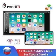 Podofo 7'' Car Radio Autoradio Car MP5 Player Android Car Stereo Video GPS MirrorLink FM Radio AUX USB NO DVD For Toyota Corolla