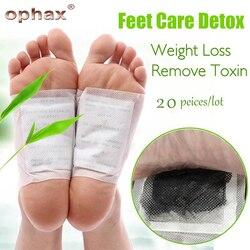 OPHAX Körper Entfernen Giftstoffe Füße Abnehmen Patch Chinesische Medizin Verbessern Schlaf Detox Fuß Patch (5Pairs Patches + 10 stücke Klebstoffe)