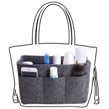 Portable Purse Organizer and Insert Bag with Large Capacity for Storage of Makeup and Cosmetics