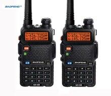 Baofeng walkie talkie portátil con auriculares uhf, vhf, comunicación cb, hf, 2 uds.