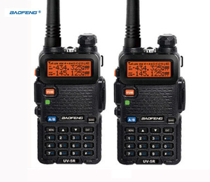 ptt uv5r baofeng uv 5r with headset uhf vhf marine cb radios communication hf transceiver Portable two way 2 pcs walkie-talkie