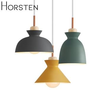 Horsten Nordic Scandinavian Modern Colorful Pendant Light Simple Metal Lampshade Pendant Lamp Creative Bar Cafe Hanging Lighting