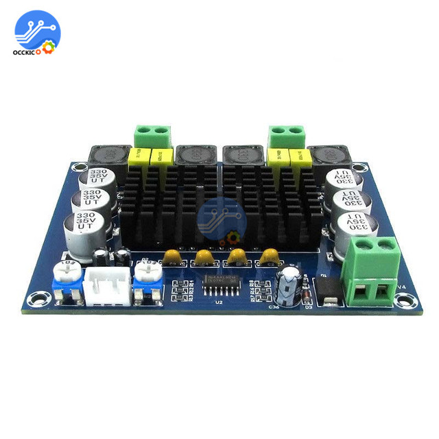 TPA3116D2 XH-M543 Dual-channel Stereo High Power Digital Audio Amplifier Board 2*120W Amplificador DIY Module 12V-24V 5