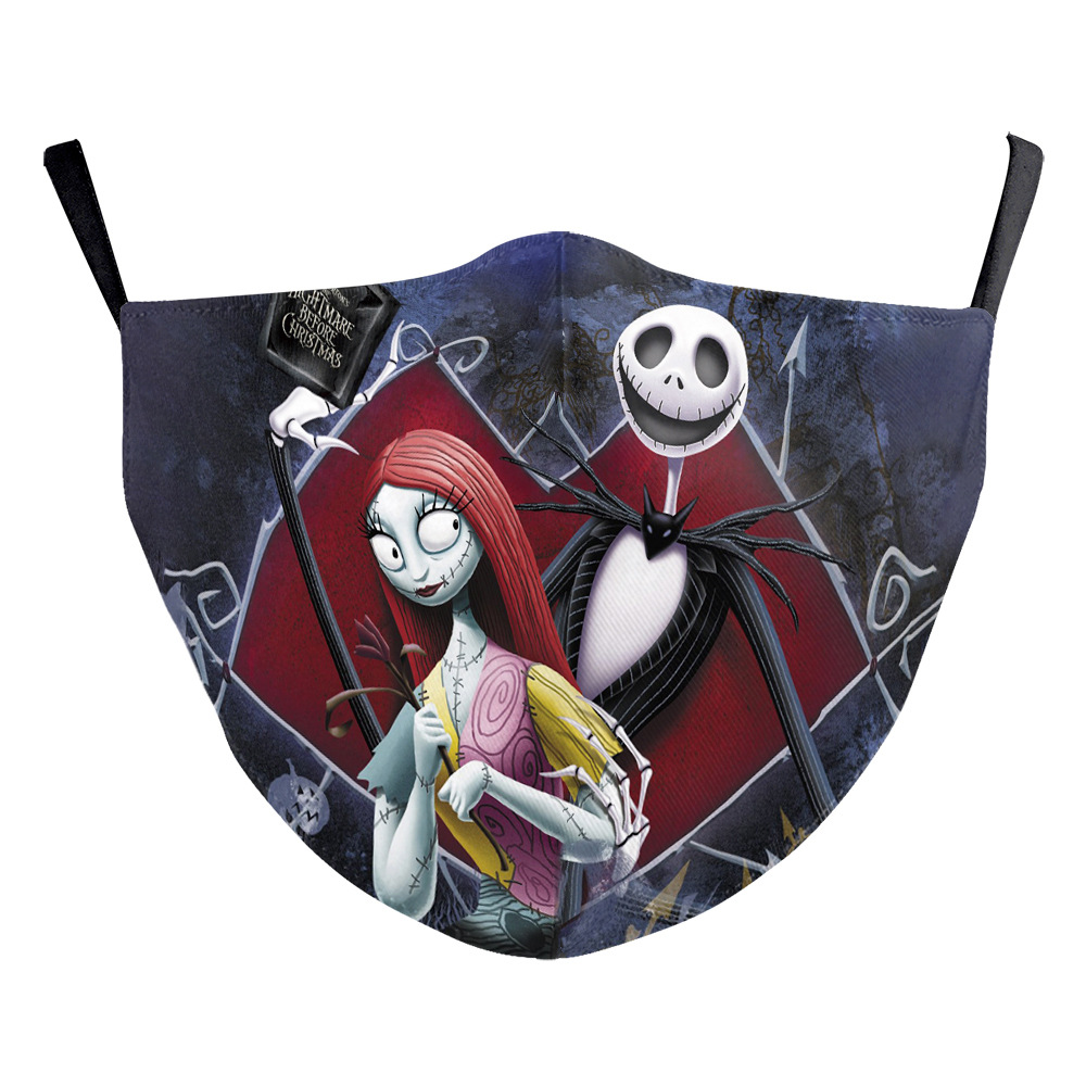 The Nightmare Before Christmas Jack Skellington face Mask Cosplay Adult Masks Props 3