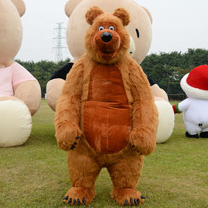 Advertising Game-Dress Costume Mascot Cosplay Girls Bear Adult Suit Brown Promotion Party