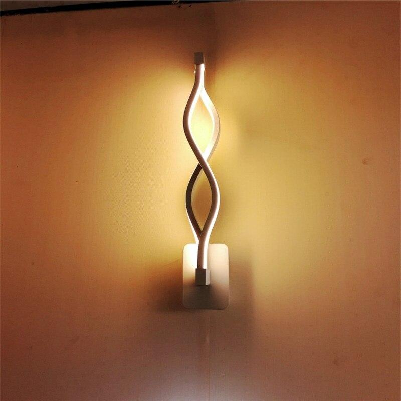 Простой современный алюминиевый волнистый светодиодный настенный светильник для спальни, гостиной, кофейни, телевизора, фоновая лампа для