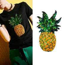 1 Piece Cheap Large Sequins Pineapple Patch Fashion Embroidered Applique Clothing Decoration Sew On clothes applique
