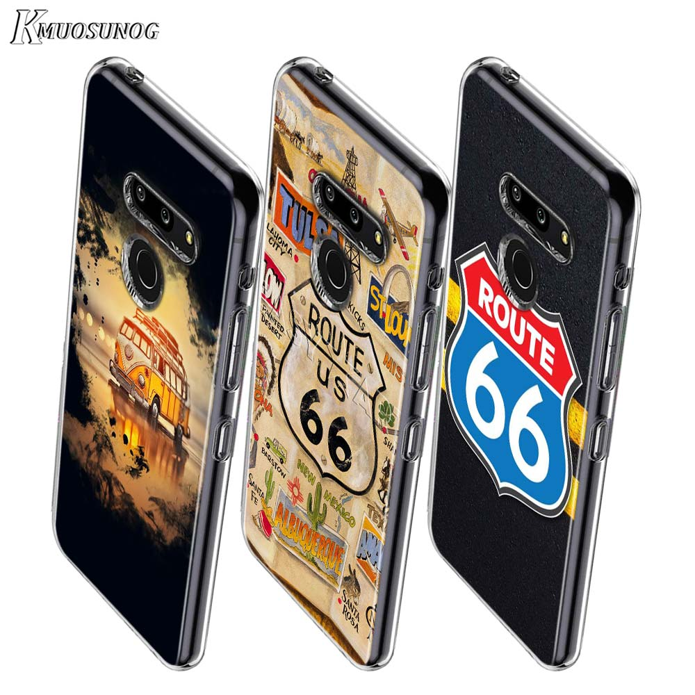 Vintage Route 66 GT-R Car Style For LG W20 W10 V50S V50 V40 V30 K50S K40S K30 K20 Q60 Q8 Q7 Q6 G8 G7 G6 Thinq Phone Case