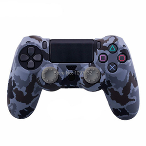 Image 4 - PS4 Camouflage Silicone Skin Protective Case чехол Cover for Sony Playstation 4 Controller for Dualshock 4 Slim Pro Gamepad