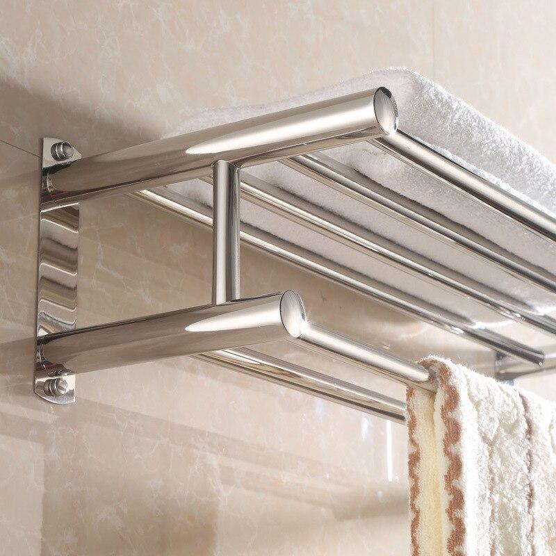 304 Stainless Steel Towel Rack Hotel Engineering Export Towel Rack Bathroom Rack Toilet Hardware Accessories