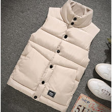 2021 new outdoor leisure waistcoat for men's slim down cotton waistcoat for men's cotton waistcoat for autumn and winter