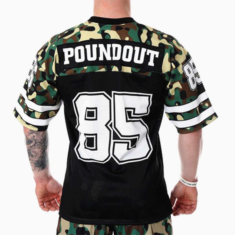 2019 Streetwear nouveau hommes musculation t-shirt lâche Hip hop Fitness chemises minces été manches courtes entraînement t-shirts séchage rapide hauts