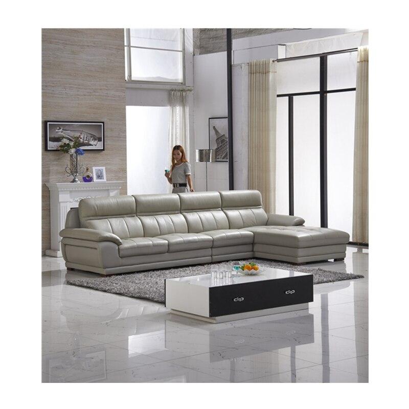 Divano In Pelle Grigio.Colore Grigio Divano In Pelle Per Appartamento Leather Sofa