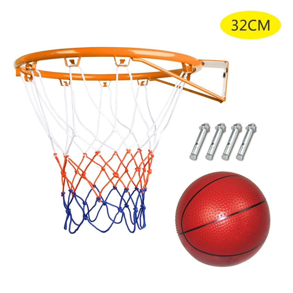 32cm Hanging Basketball Wall Mounted Goal Hoop Rim Net Sports Netting Indoor Outdoor Children's Basketball Box Dropship