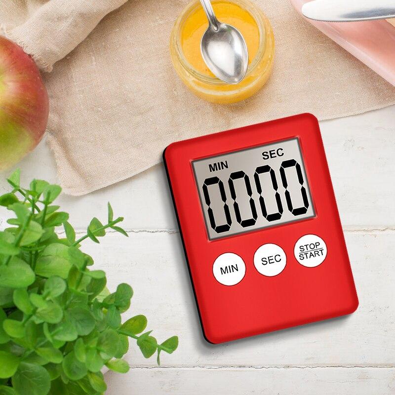 8 цветов цифровой ЖК-экран кухонный таймер квадратный кухонный будильник прямого и обратного счета секундомер для сна часы Temporizador Digital