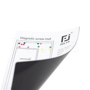 Image 4 - 17 Pcs Magnetische Schroef Mat Voor Iphone 11 Promax X 8P 8 7 7P 6 6S 6P 6SP 5 5 S 4 S 4 Iphone Reparatie Werk Met Kleurrijke Schroef Locatie