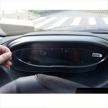 lsrtw2017 car dashboard screen anti-scratch protective gps navigation tempered film for peugeot 5008 3008 2017 2018 2019 2020 image