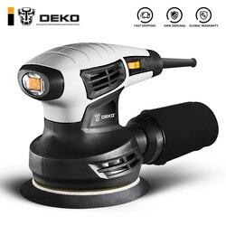 DEKO NEW DKSD28Q1 280W Random Orbit Sander with 15pcs 125mm Sandpaper and Variable Speed Sander Power Tools