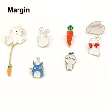 High Quality Collection Enamel Pin Cartoon Rabbit Carrot Brooch Lapel Pin Custom Badge Gift for Kids Girl Gifts for Women high quality hat pin lapel pin soft enamel low price custom zinc alloy lapel pin fh680020