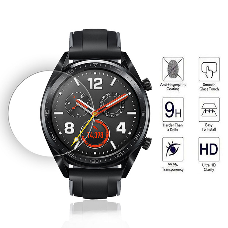 1 Unit 2.5D 9H Explosion-proof Tempered Glass Protective For Huawei Watch GT 35.5mm SmartWatch Screen Protector Film Cover Case