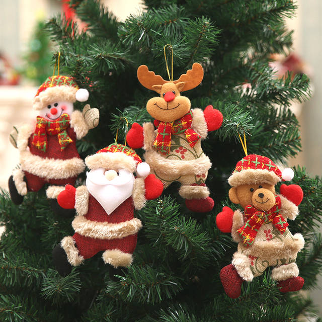 Cute Christmas Pictures.Us 1 07 40 Off New Year 2020 Cute Christmas Dolls Santa Claus Snowman Elk Noel Christmas Tree Decoration For Home Xmas Navidad 2019 Kids Gift In