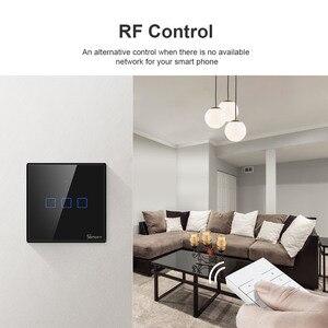 Image 4 - SONOFF T2 T3 Schwarz EU Wifi Licht Schalter Smart Wand Touch Schalter APP/433 RF Remote Conrtol Schalter Wireless 1/2/3 Gang Schalter